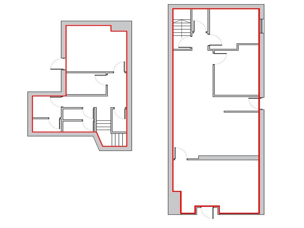 Resized floor plan